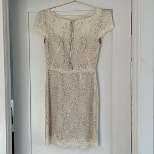 Encore by Watters Lace Cap Sleeve Dress